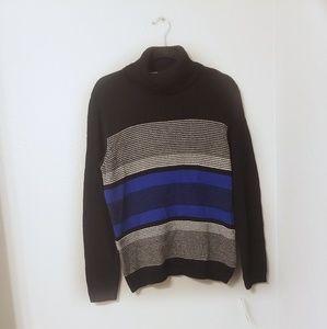Nwt. Karen scott color block turtleneck sweater